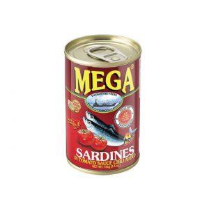 MEGA Sardines in Tomato Sauce with Chilli 155g