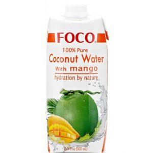 FOCO Kokosų Vanduo su Mango 500ml