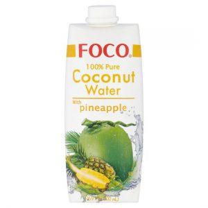 FOCO Kokosų Vanduo su Ananasais 500ml