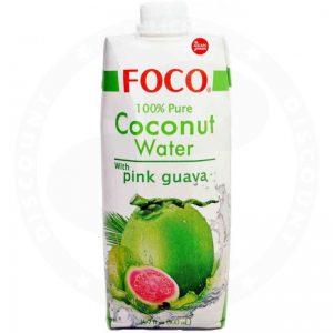 FOCO Kokosų Vanduo su Guava 500ml