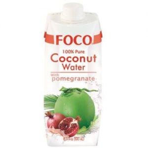 FOCO Kokosų Vanduo su Granatais 500ml